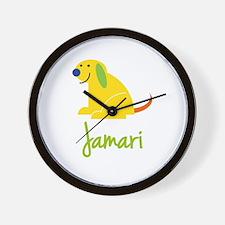 Jamari Loves Puppies Wall Clock