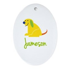 Jameson Loves Puppies Ornament (Oval)