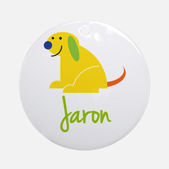 Jaron Loves Puppies Ornament (Round)