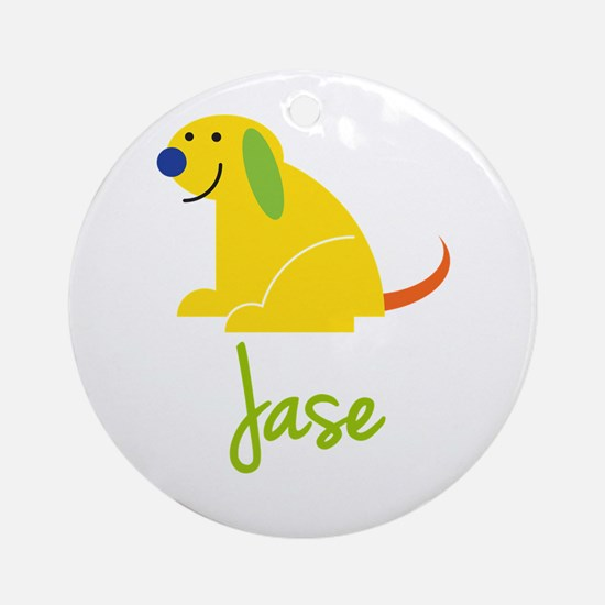 Jase Loves Puppies Ornament (Round)