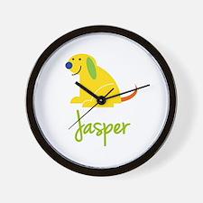 Jasper Loves Puppies Wall Clock