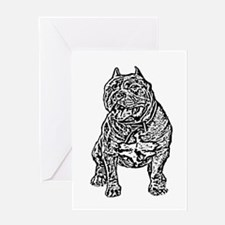American Bully Dog Greeting Card