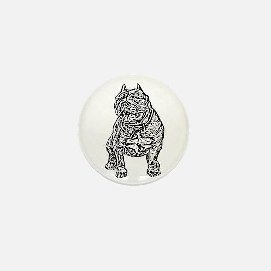 American Bully Dog Mini Button