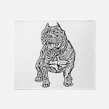 American Bully Dog Throw Blanket