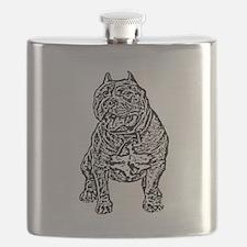 American Bully Dog Flask