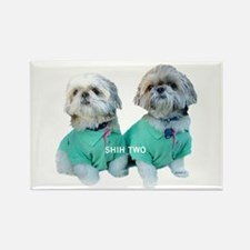 Shih Two Shih Tzu Rectangle Magnet