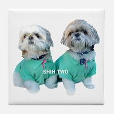 Shih Two Shih Tzu Tile Coaster
