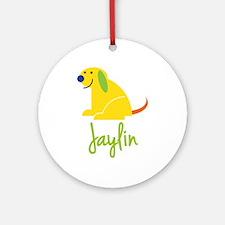 Jaylin Loves Puppies Ornament (Round)