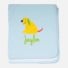 Jaylon Loves Puppies baby blanket
