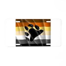 BEAR PRIDE FLAG Aluminum License Plate