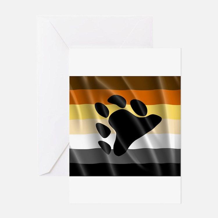 BEAR PRIDE FLAG Greeting Card