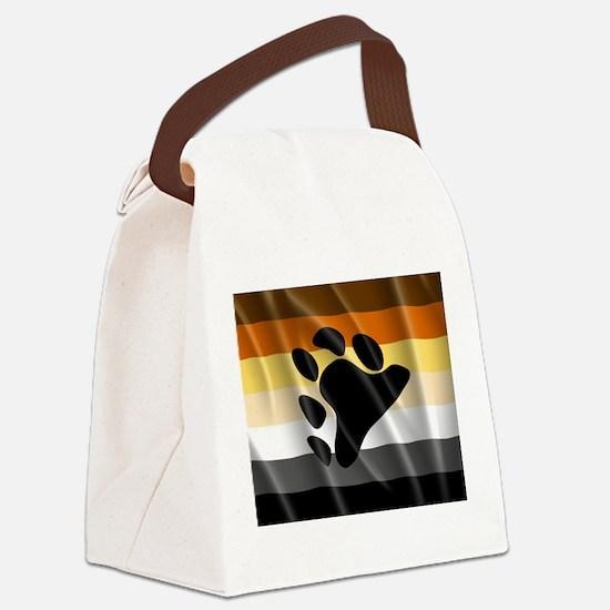 BEAR PRIDE FLAG Canvas Lunch Bag
