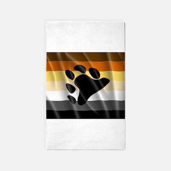 BEAR PRIDE FLAG 3'x5' Area Rug