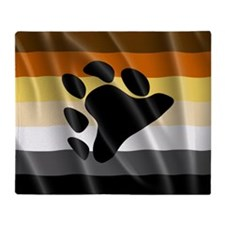 BEAR PRIDE FLAG Throw Blanket
