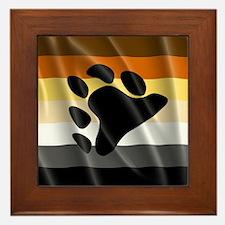 BEAR PRIDE FLAG Framed Tile