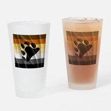 BEAR PRIDE FLAG Drinking Glass