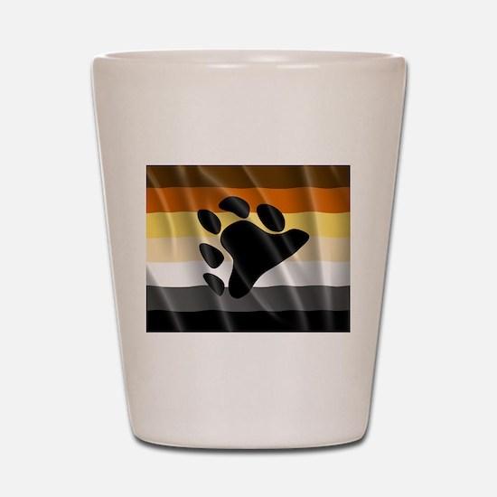 BEAR PRIDE FLAG Shot Glass