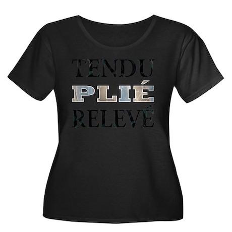 Tendu, Plie, Releve (Pastel Design) Plus Size T-Sh