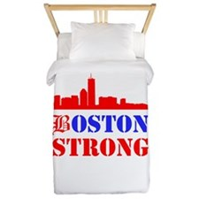 Boston Strong Red and Blue Twin Duvet