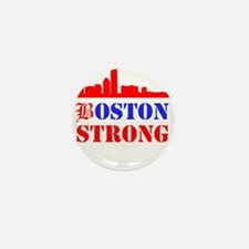Boston Strong Red and Blue Mini Button (10 pack)