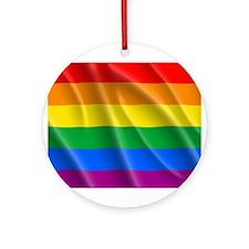 LGBT PRIDE FLAG Ornament (Round)