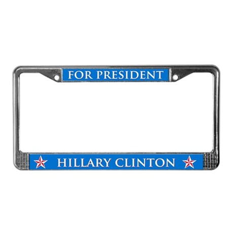 Vote Hillary Clinton MB License Plate Frame