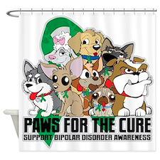 Bipolar Disorder Paws Group Shower Curtain