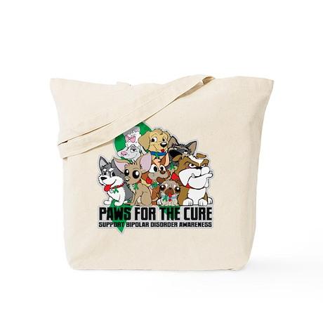 Bipolar Disorder Paws Group Tote Bag