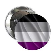 """ASEXUAL PRIDE FLAG 2.25"""" Button"""