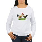 Norwegian Jaerhons Chickens Women's Long Sleeve T-