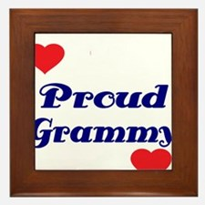 Proud Grammy with hearts Framed Tile