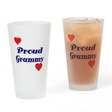 Proud Grammy with hearts Drinking Glass