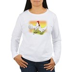 White Leghorn Chickens Women's Long Sleeve T-Shirt