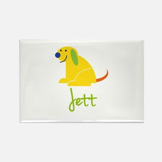 Jett Loves Puppies Rectangle Magnet