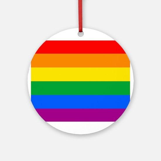 GAY PRIDE FLAG - RAINBOW FLAG Ornament (Round)