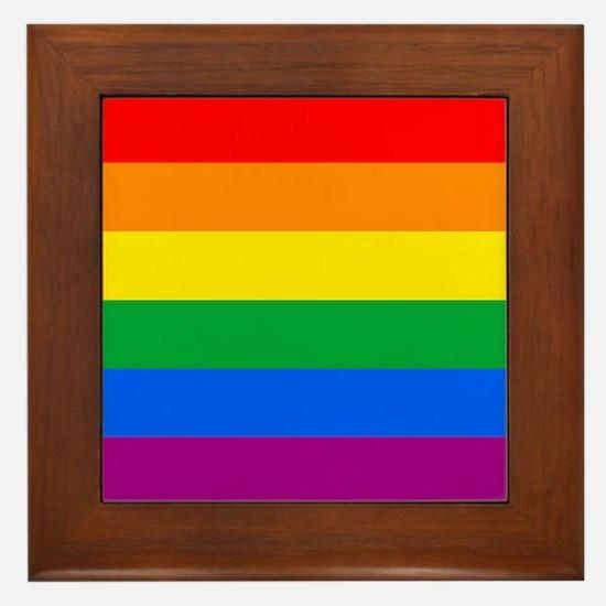 GAY PRIDE FLAG - RAINBOW FLAG Framed Tile