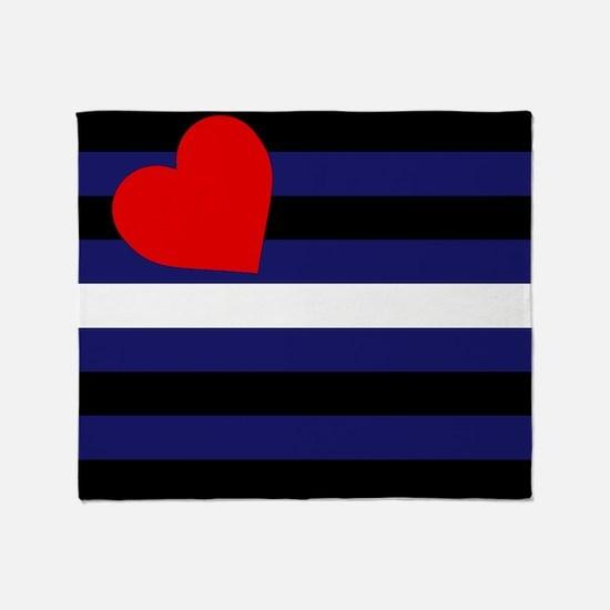 LEATHER FLAG Throw Blanket