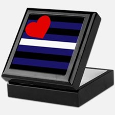 LEATHER FLAG Keepsake Box