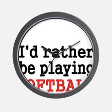 Id rather be playing Softvall Wall Clock