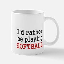 Id rather be playing Softvall Mug