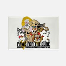 Childhood Cancer Puppy Group Rectangle Magnet