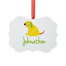 Johnathon Loves Puppies Ornament