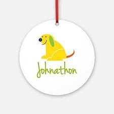 Johnathon Loves Puppies Ornament (Round)