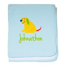 Johnathon Loves Puppies baby blanket