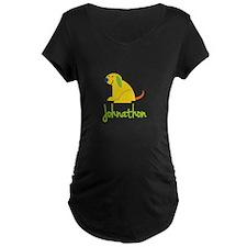 Johnathon Loves Puppies Maternity T-Shirt