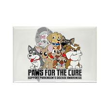 Parkinson's Disease Puppy Group Rectangle Magnet