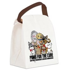 Parkinson's Disease Puppy Group Canvas Lunch Bag
