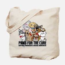Parkinson's Disease Puppy Group Tote Bag