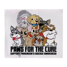 Parkinson's Disease Puppy Group Throw Blanket