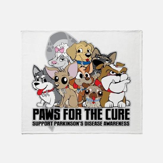 Parkinson's Disease Puppy Group Throw Blanket